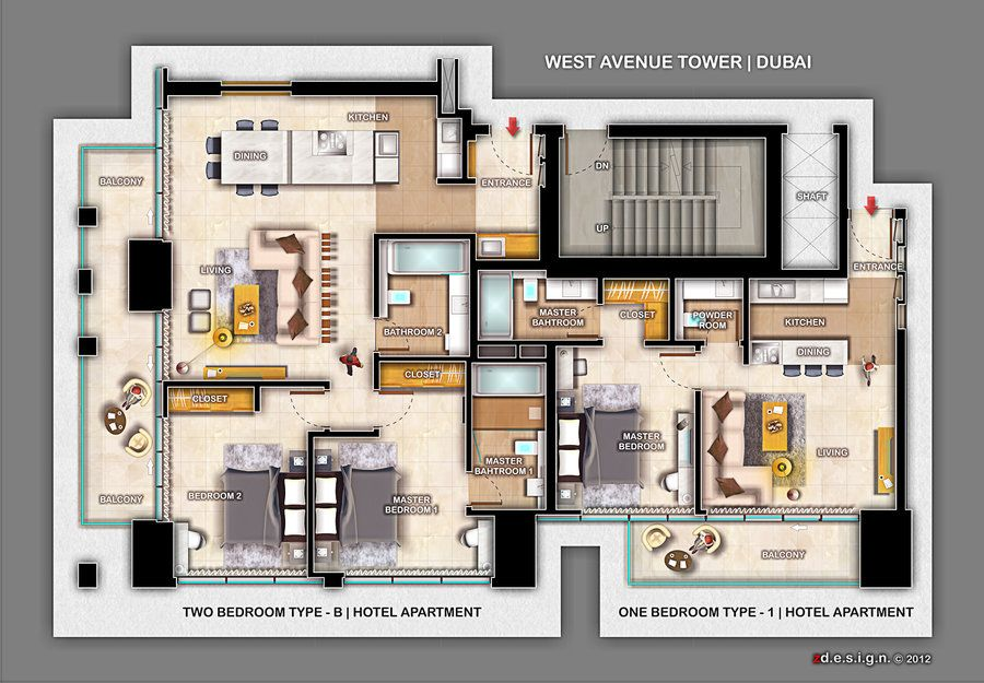 zdesign 1 and 2 Bedroom Apartment 2 bedroom apartment
