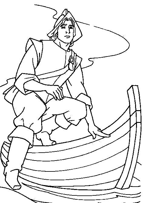 John Smith In The Boat Coloring Pages For Kids Fgg Printable Pocahontas Coloring Pages For Mermaid Coloring Pages Disney Coloring Pages Cool Coloring Pages