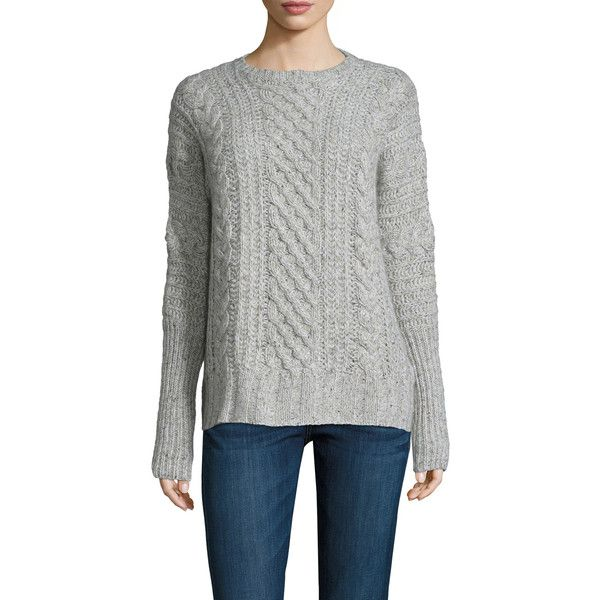 Autumn Cashmere Women's Cashmere Cable Crewneck Dolman Sweater -... ($239) ❤ liked on Polyvore featuring tops, sweaters, autumn cashmere sweater, cable-knit sweater, dolman sweater, crewneck sweaters and j.crew cashmere sweaters