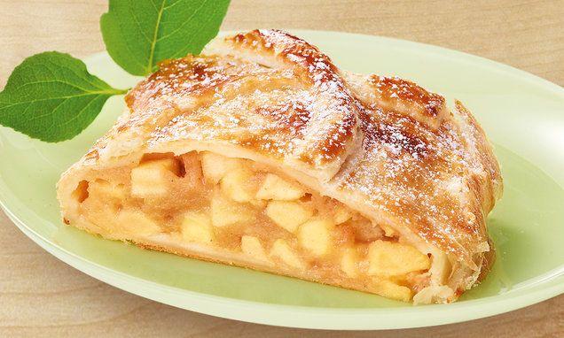Apfelstrudel aus Blätterteig