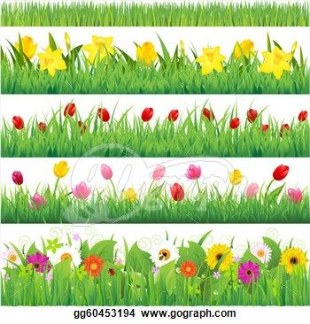 Flower Garden Borders Clipart Clipart Pinterest Flower