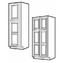 Best Wp2490B Ice White Shaker Tall Pantry Cabinet Tall Pantry 640 x 480