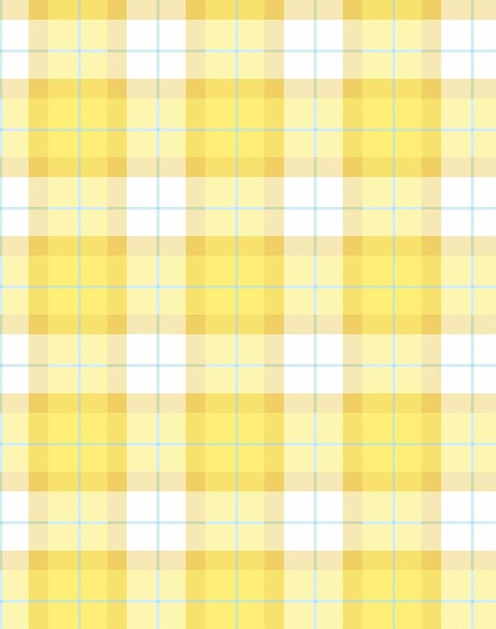 Oban Plaid Wallpaper - Yellow