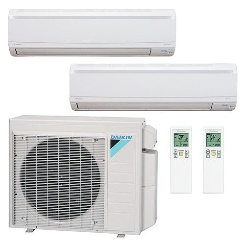 36 000 Btu 17 Seer Dual Zone Wall Mounted Daikin Mini Split Heat