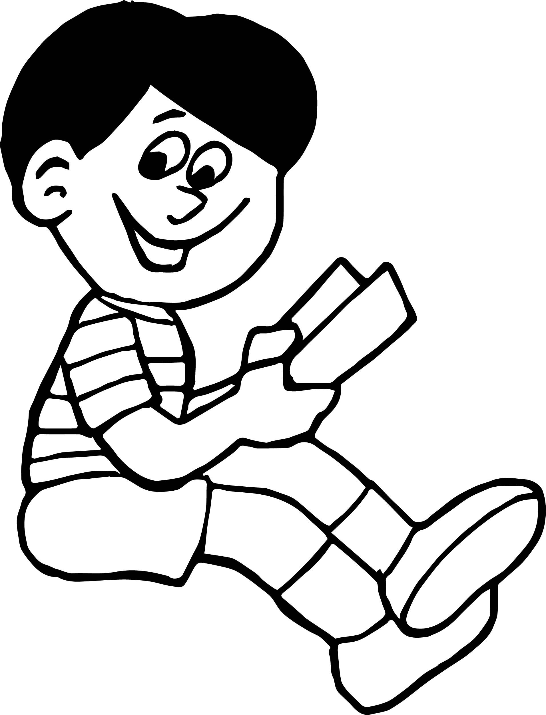 Awesome Boy Reading Book Coloring Page Cartoon Coloring Pages Coloring Pages Paw Patrol Coloring Pages