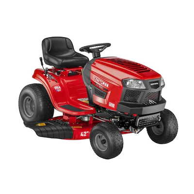 Craftsman T110 17 5 Hp Manual Gear 42 In Riding Lawn Mower With Mulching Capability Kit Sold Separately Lowes Com In 2020 Riding Lawn Mowers Lawn Mower Craftsman Riding Lawn Mower