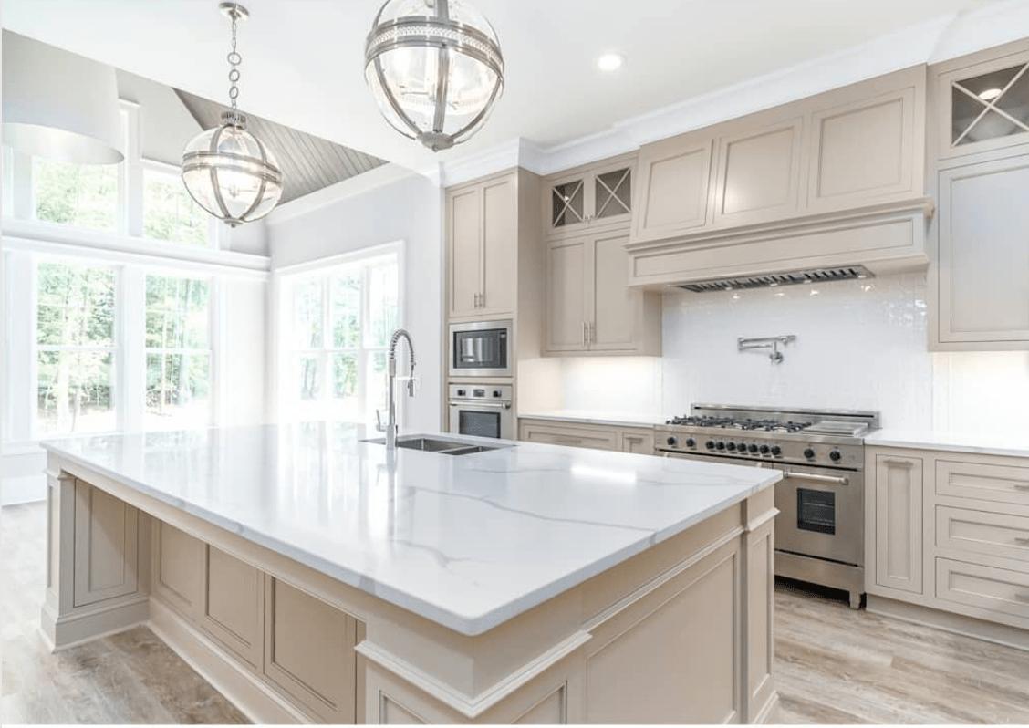 Beautiful Kitchen Cabinet Paint Colors That Aren T White Welsh Design Studio In 2020 Beige Kitchen Taupe Kitchen Cabinets Painted Kitchen Cabinets Colors