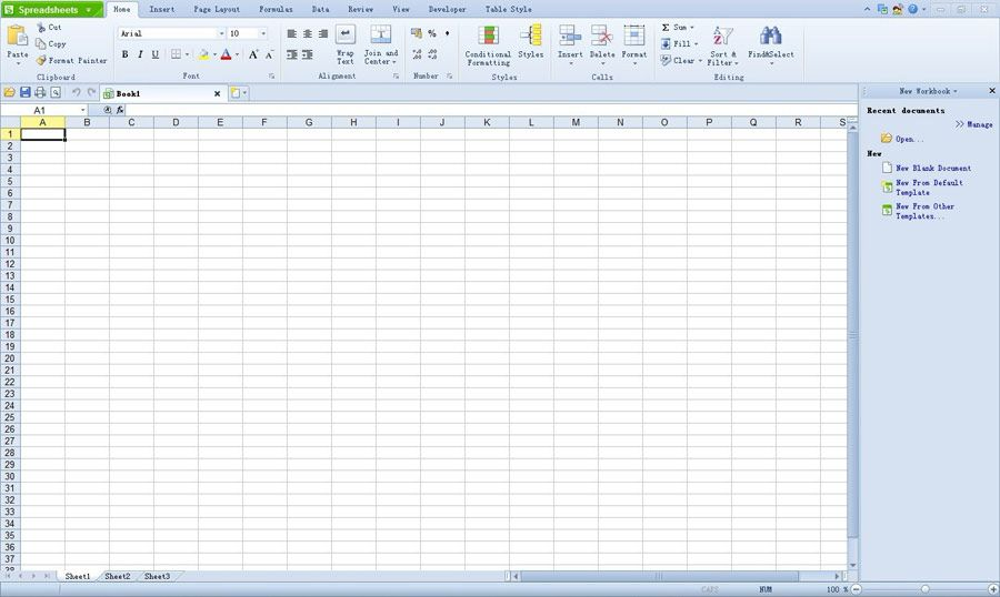 Spreadsheet software allows users to organize data in rows and