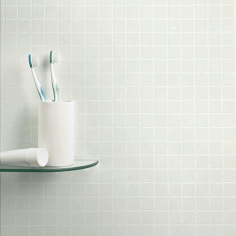 piniona macdonald on bathrooms   white mosaic tiles