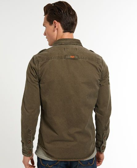 Mens - Military Artillery Shirt in Army Green