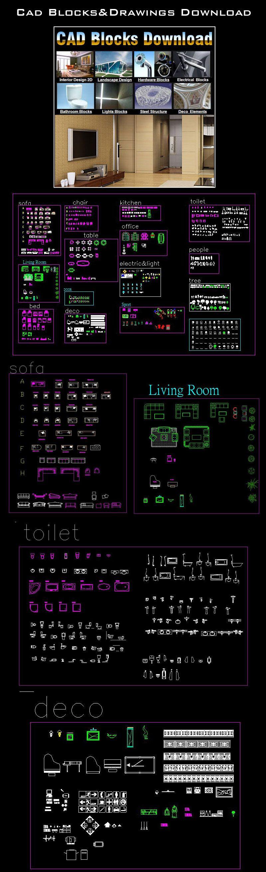 AutoCAD Blocks | AutoCAD Symbols | CAD Drawings | Architecture ...