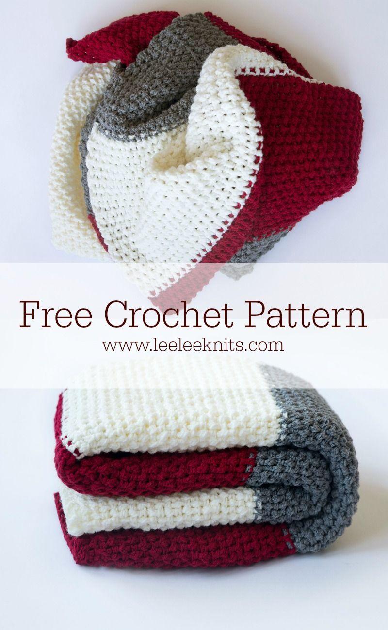 Color Block Throw - Free Crochet Blanket Pattern | all things yarn ...
