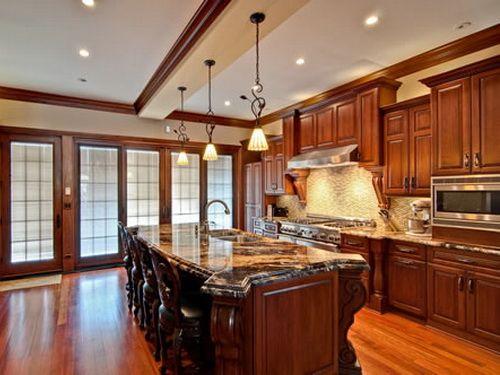 Luxury Wooden Kitchen Cabinets Cherry Wood Cherry