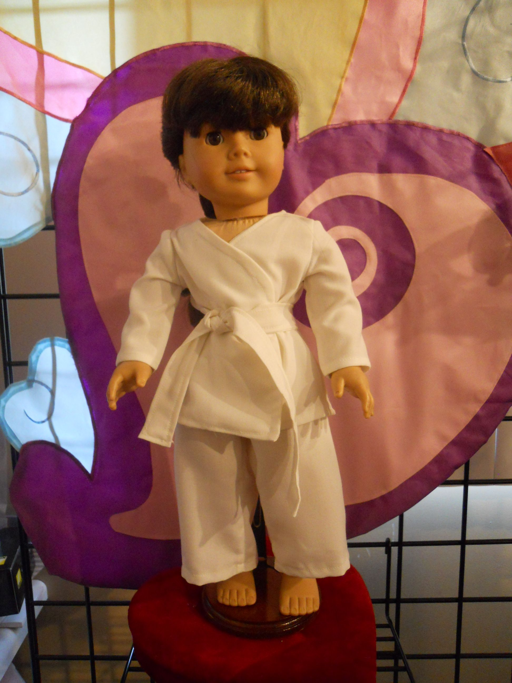 """Martial Arts outfit for 18"""" doll"""