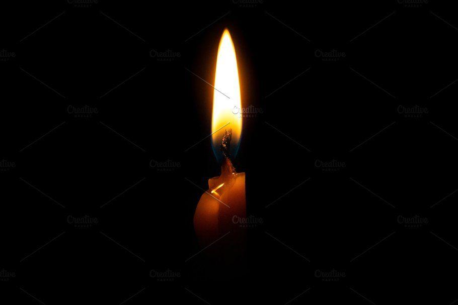 Burning Candle On Black Background Candle Background Burning Candle Black Backgrounds