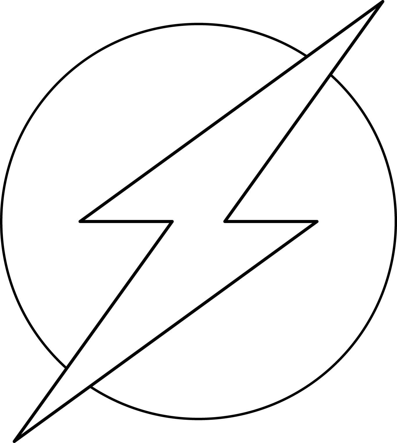 The Flash superhero logo. Add another outer circle and you