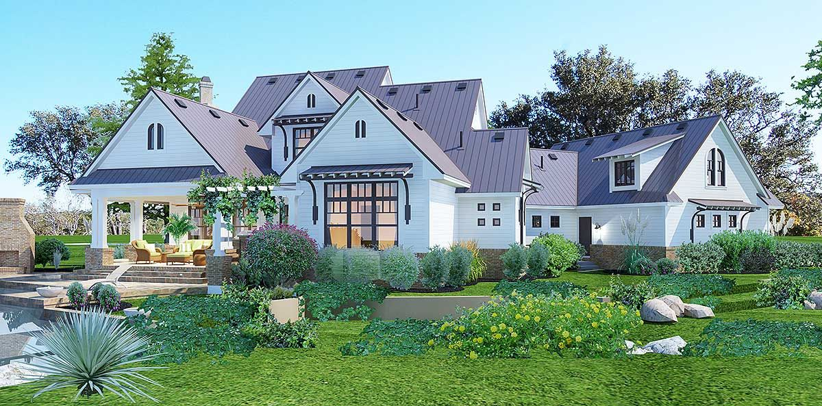 Plan 16853WG: Elegant Farmhouse Living