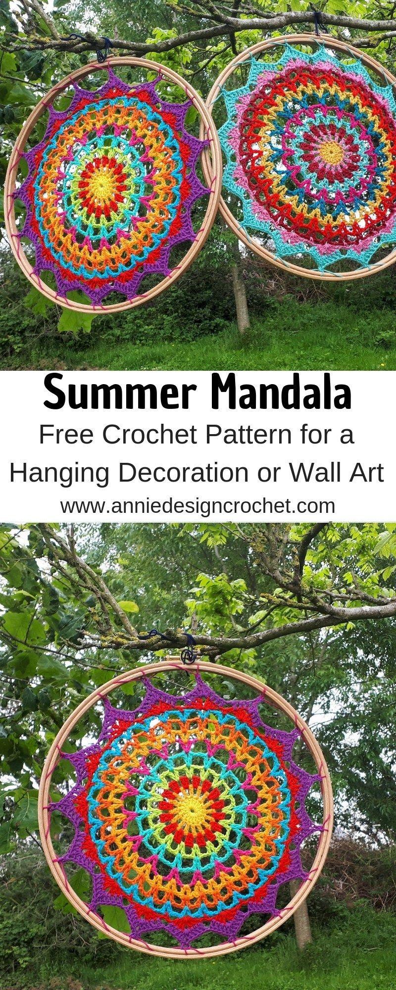 Summer Mandala – Free Crochet Pattern – Annie Design Crochet #crochetmandalapattern
