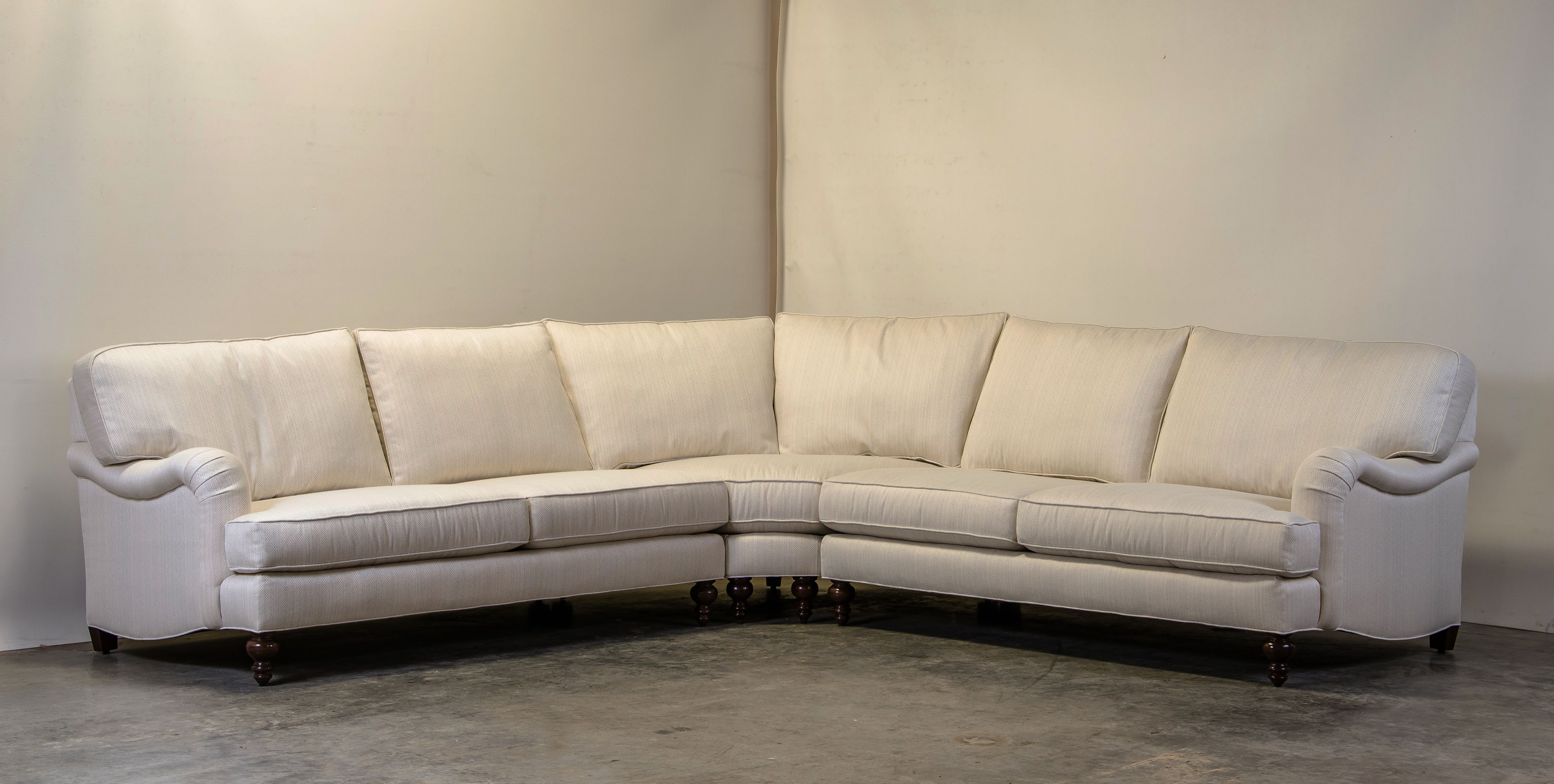 COCOCO's English Arm Sectional in Sunbrella Posh Parchment