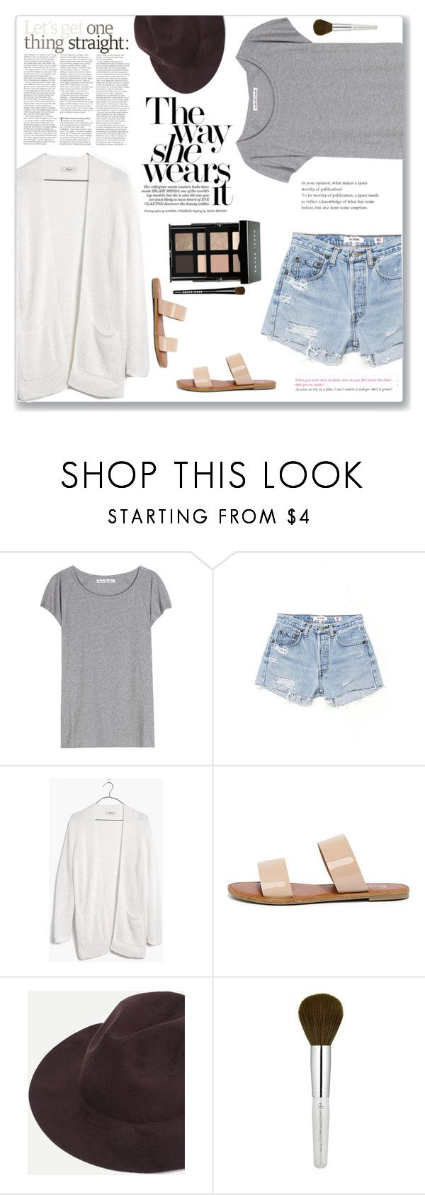 """""""NYX: Sculpting"""" by enjolras1832 ❤ liked on Polyvore featuring Acne Studios, RE/DONE, Madewell, Bonnibel and Bobbi Brown Cosmetics"""