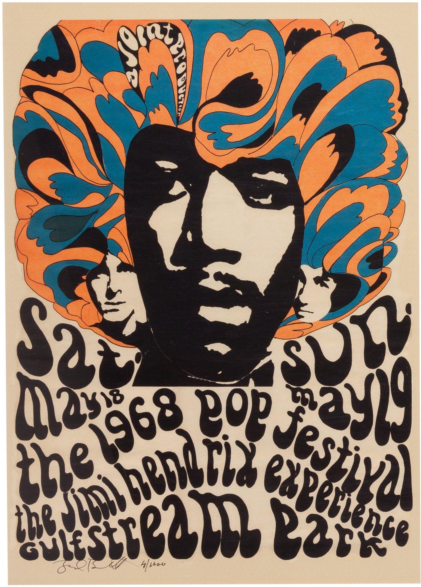 jimi hendrix  pop art retro vintage large  print poster painting Australia