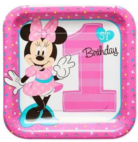 American Greetings 8ct Minnie Mouse 1st Birthday Square Dinner