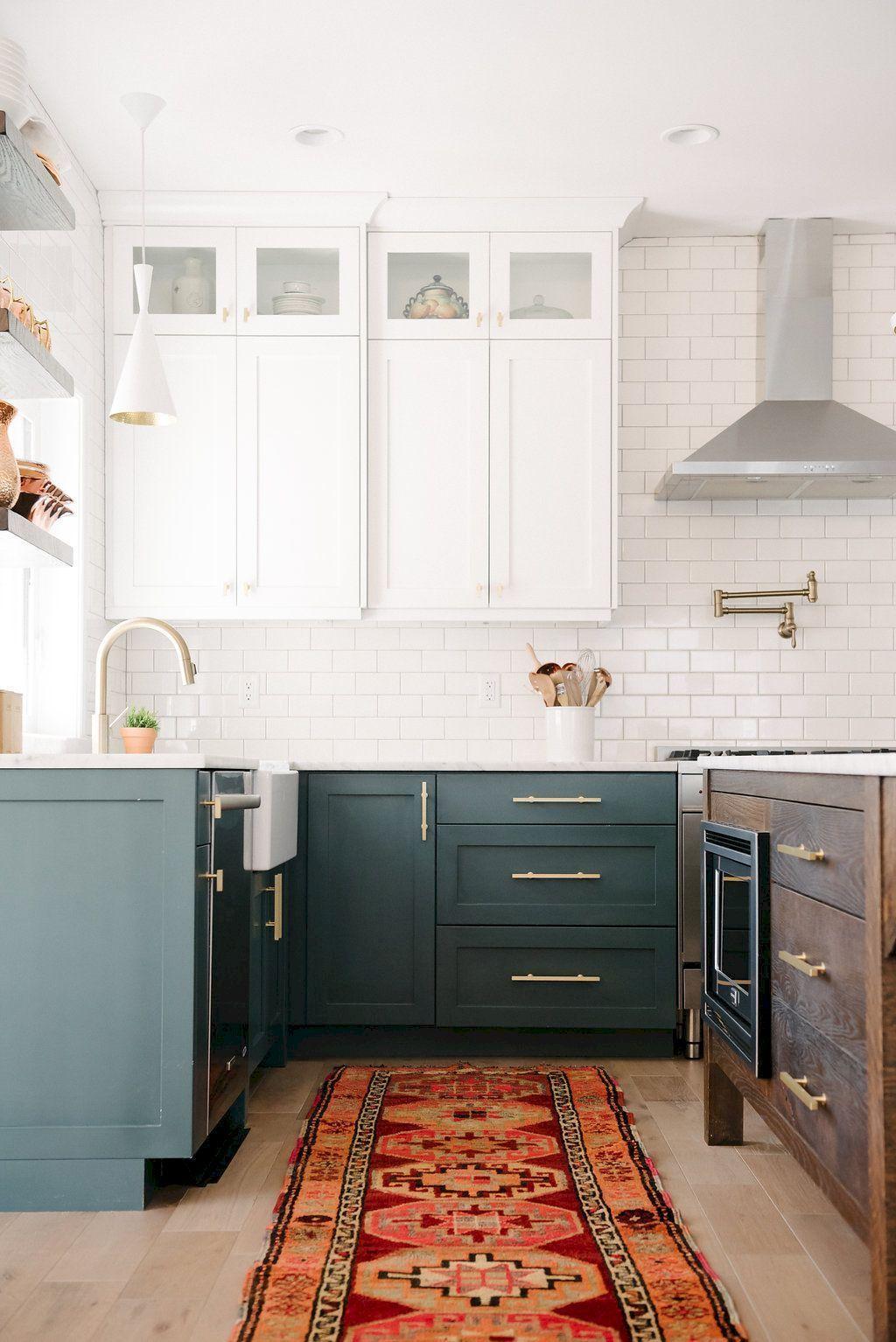 Cool 55 Gorgeous Modern Farmhouse Kitchen Cabinets Decor Ideas https ...