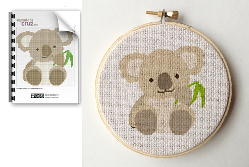 Patrón gratis en punto de cruz: Koala | Cross stitch- | Pinterest ...