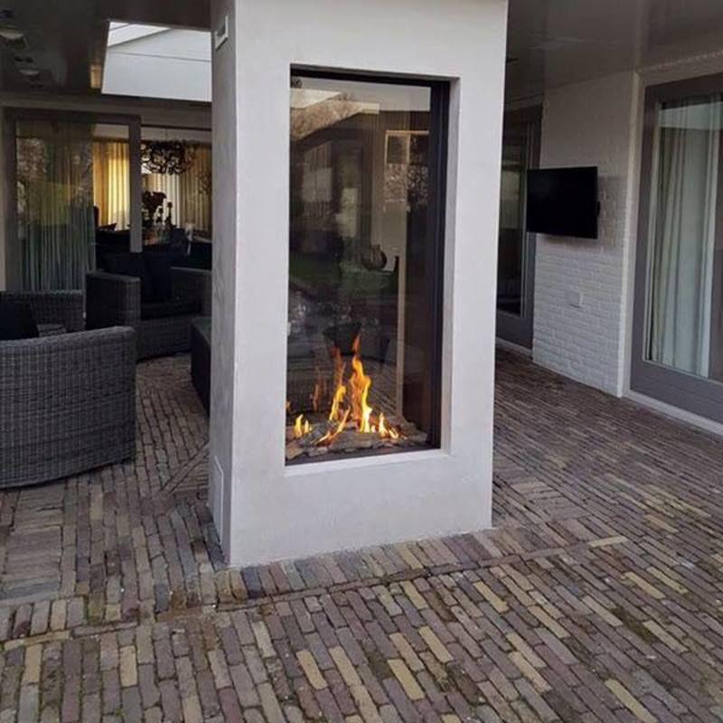 Hedendaags Moderne doorkijk gashaard buiten | Buitenhaarden in 2019 - Modern HH-27