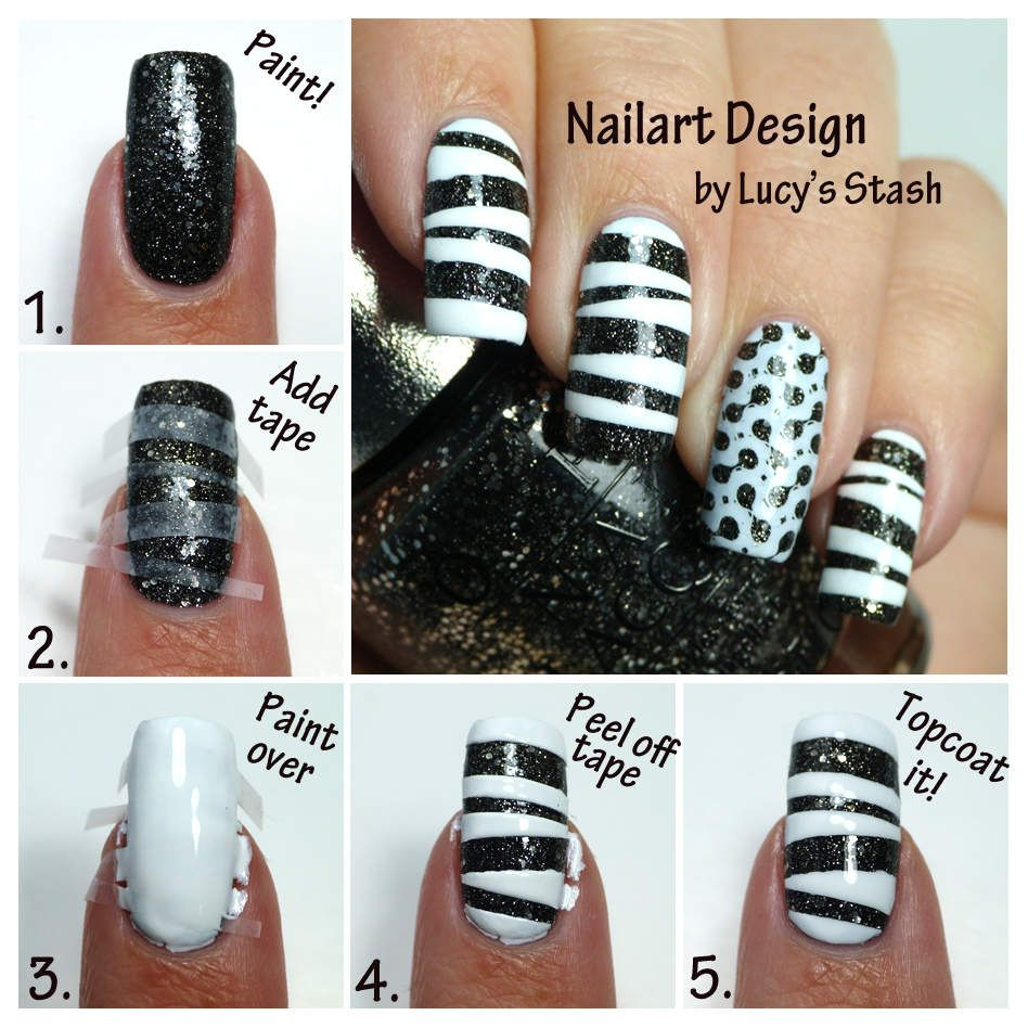 5 Simple Steps For Nail Art Tape And Stamping Nails Pinterest