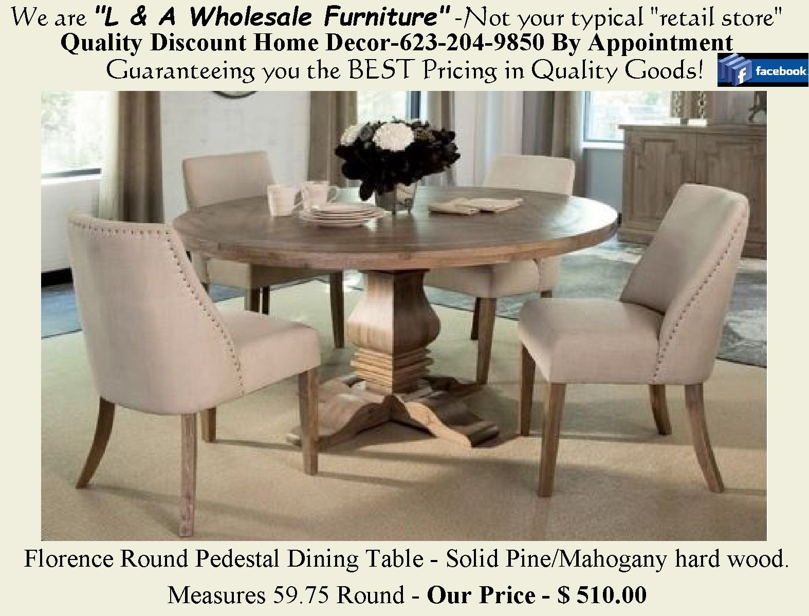 The Florence Dining Collection Available In Rectangular Or Round