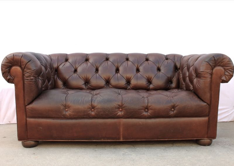 Incredible Vintage 72 Ethan Allen Tobacco Brown Leather