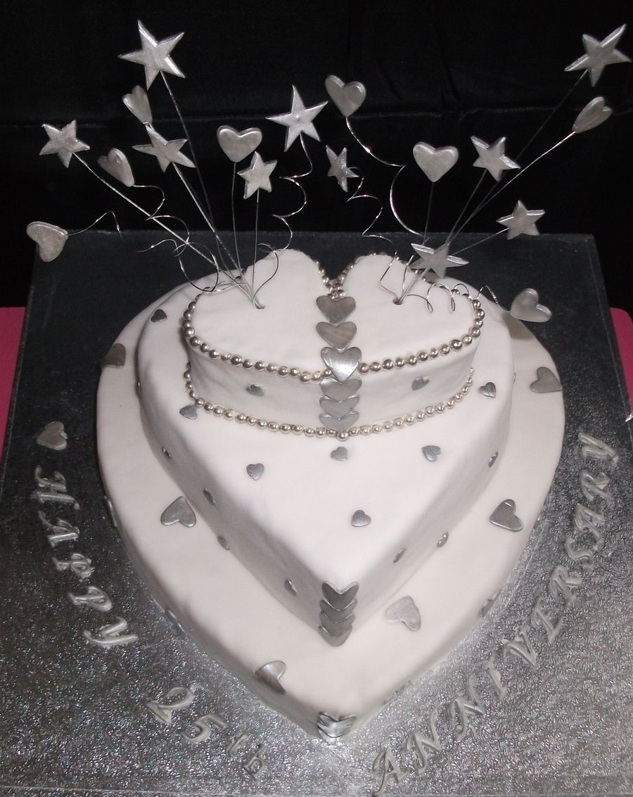 Silver Wedding Anniversary Cake on Cake Central | Cakes | Pinterest ...