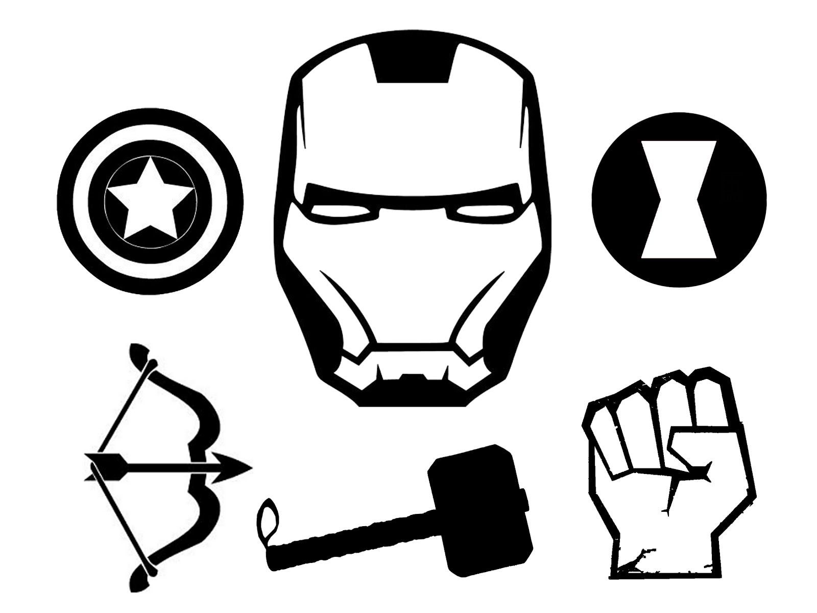 The Avengers T Shirt And Stencil Festa Dos Vingadores Roupas