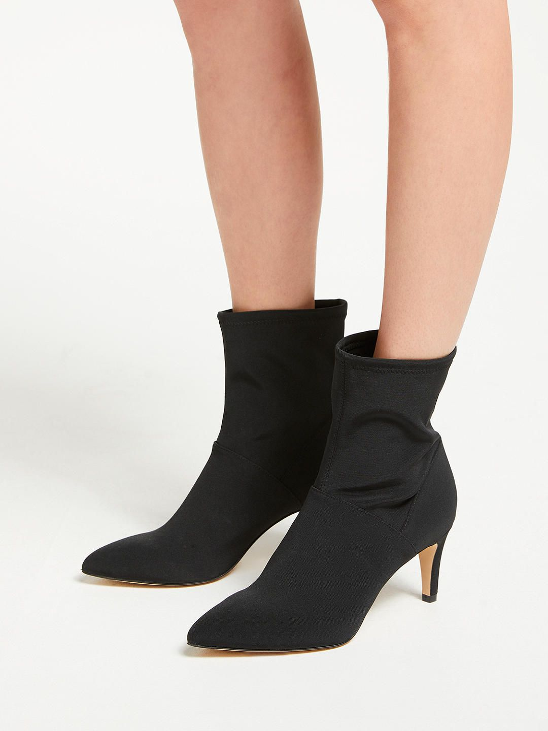 d3cc468d6f6 BuyBoden Stretch Stiletto Heel Ankle Boots