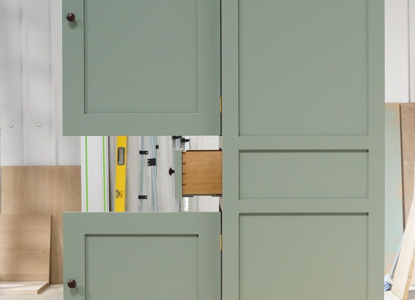 Best Small Larder Cupboard Handpainted In Farrow And Ball 640 x 480