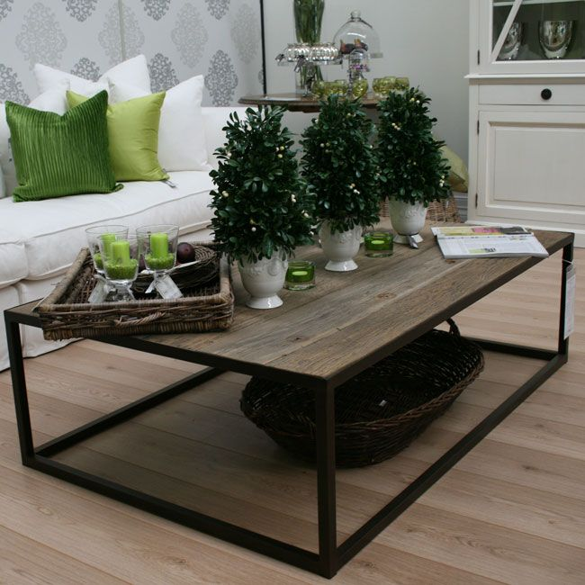 Warehouse Range Rectangular Coffee Table Reclaimed Timber By French Dressing Industrial