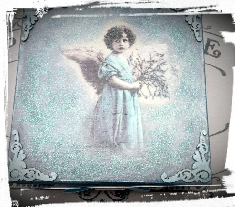 An Angel.Tea bags boxJewellery Storage by MagdalenaMagic on Etsy