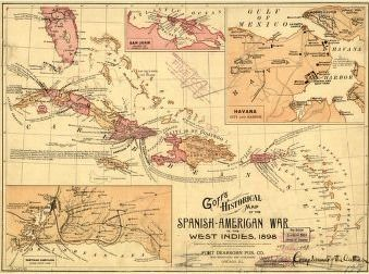 Goffs historical map of the spanish american war in the west goffs historical map of the spanish american war in the west indies 1898 gumiabroncs Gallery