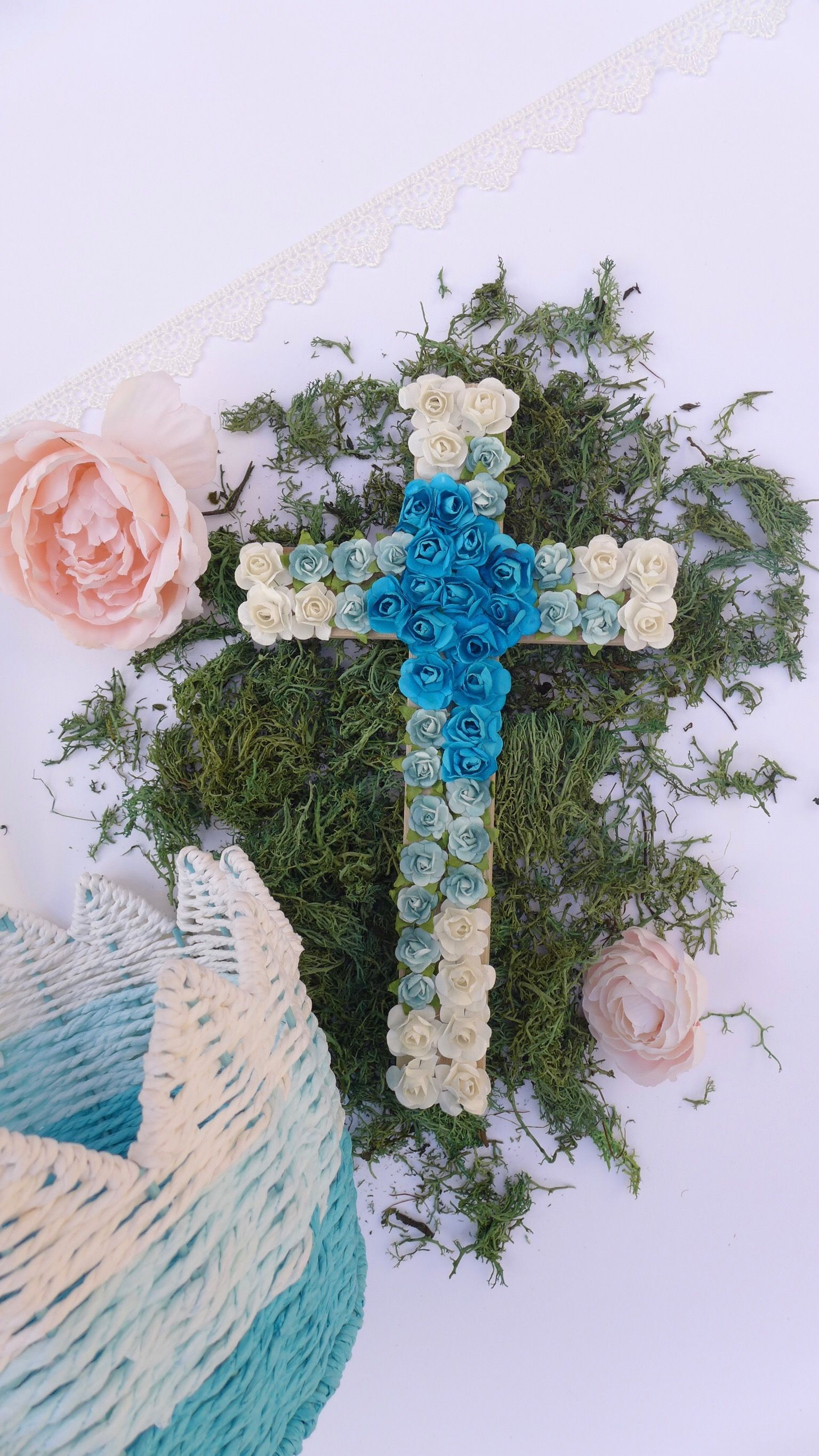 Easter decorations easter decor easter gift rustic cross easter easter decorations easter decor easter gift rustic cross easter basket gift negle Images
