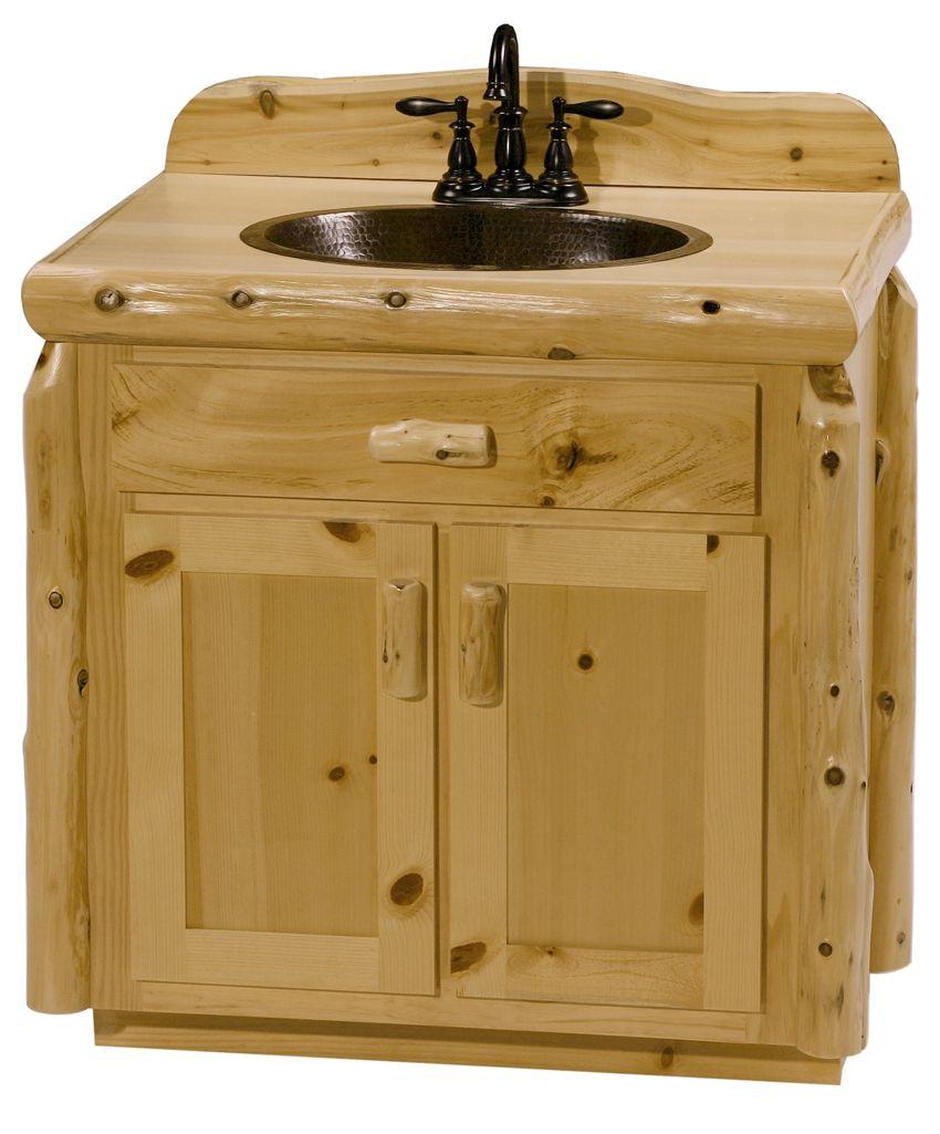 Knotty Pine Bathroom Vanity 5 Cabinets
