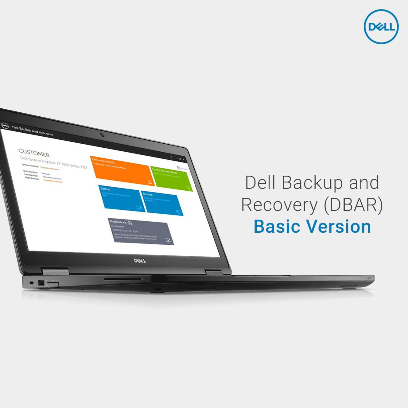 Dell Backup And Recovery Dbar Basic Version Databackup