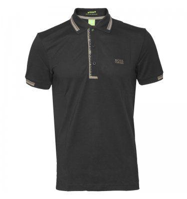 Hugo Boss Paule Tipped Polo Shirt Black