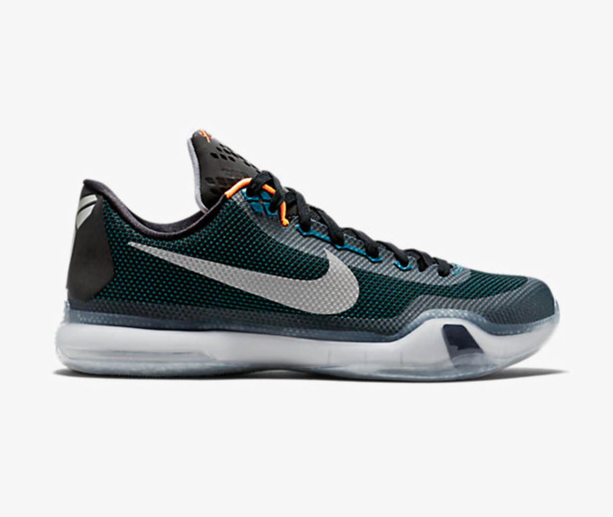 Men's Kobe X Teal/Bright Citrus/White/Reflect Silver