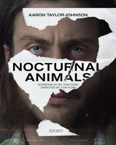 Movie poster for Nocturnal Animals featuring Aaron Taylor-Johnson