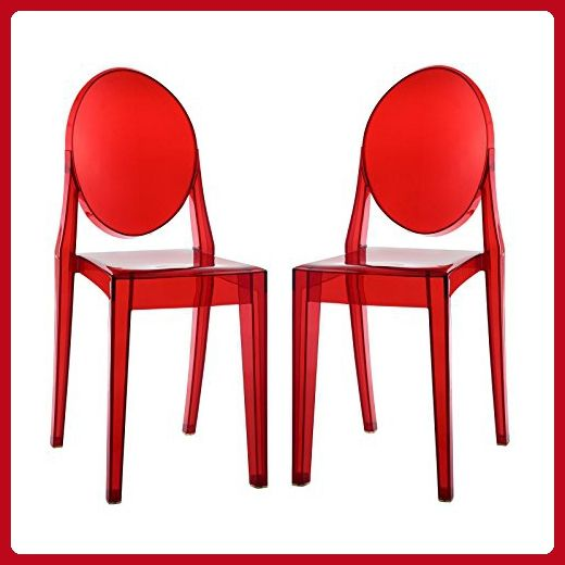Modway Casper Dining Chairs Set Of 2 Red Improve Your Home