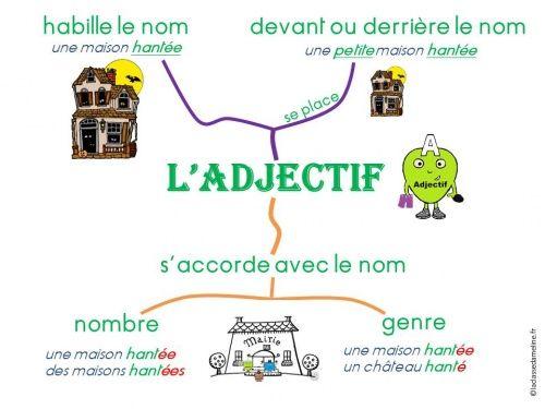 Carte Mentale Accord Adjectif De Couleur.Adjectif Fr En Tr La Grammaire Apprentissage De La