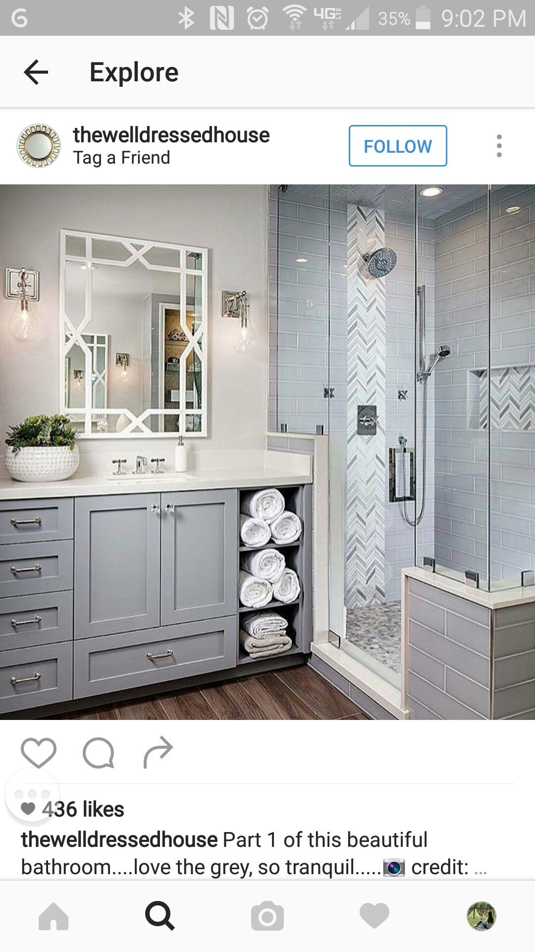 Such A Pretty Bathroom Love The Open Shelves For Towels
