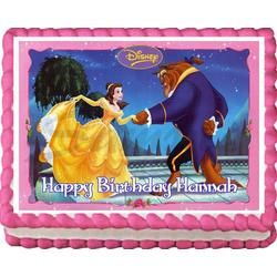 Beauty and the Beast Belle Birthday Party Edible Cake Topper 1//4 sheet