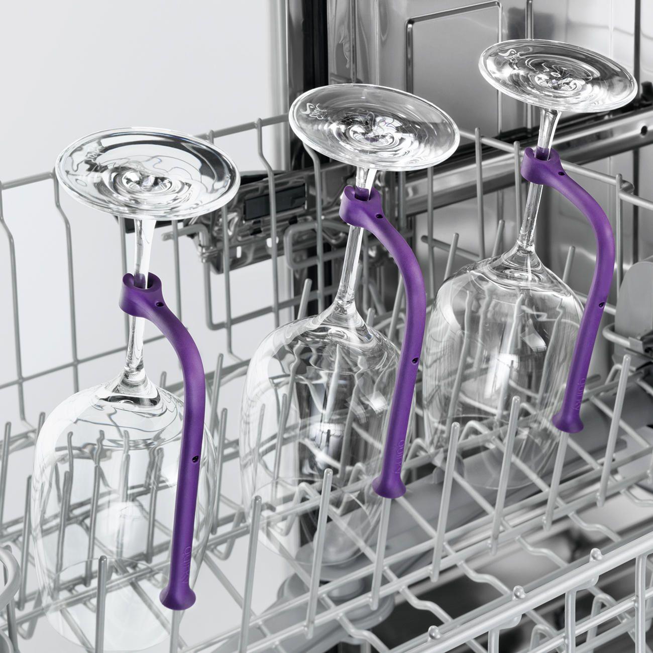 Gläserhalter für Geschirrspüler, 8er-Set Endlich können Sie auch viele langstielige Gläser gefahrlos im Geschirrspüler reinigen. € 29,95